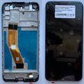 Дисплей для Samsung A115 Galaxy A11, M115 Galaxy M11 черный, с сенсорным экраном, с рамкой, Service pack