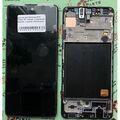 Дисплей для Samsung A515 Galaxy A51 черный, с сенсорным экраном, с рамкой, (OLED)