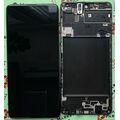 Дисплей для Samsung A715 Galaxy A71 черный, с сенсорным экраном, с рамкой, (OLED)