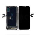 Дисплей для iPhone XS, черный, с сенсорным экраном, с рамкой, PRC, NEW