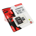Kingston Micro SD 128Gb + адаптер для SD, 10 class