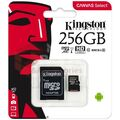Kingston Micro SD 256Gb + адаптер для SD, 10 class