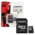 Kingston Micro SD 32Gb + адаптер для SD, 10 class