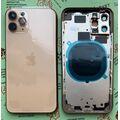 Корпус для iPhone 11 Pro, золотой, с держателем SIM-карты, с боковыми кнопками