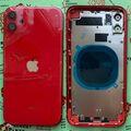 Корпус для iPhone 11, красный, с держателем SIM-карты, с боковыми кнопками