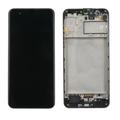 Дисплей для Samsung M315 Galaxy M31 черный, с сенсорным экраном, с рамкой, Service pack