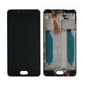 Дисплей для Meizu M5c M710 черный, с сенсорным экраном, с рамкой, Original (PRC)